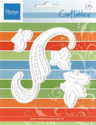 Marianne Design: Craftables Dies - Tiny's Swirl & Leaves 3