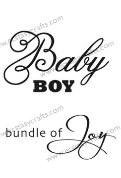 Clear Stamps - Baby Boy