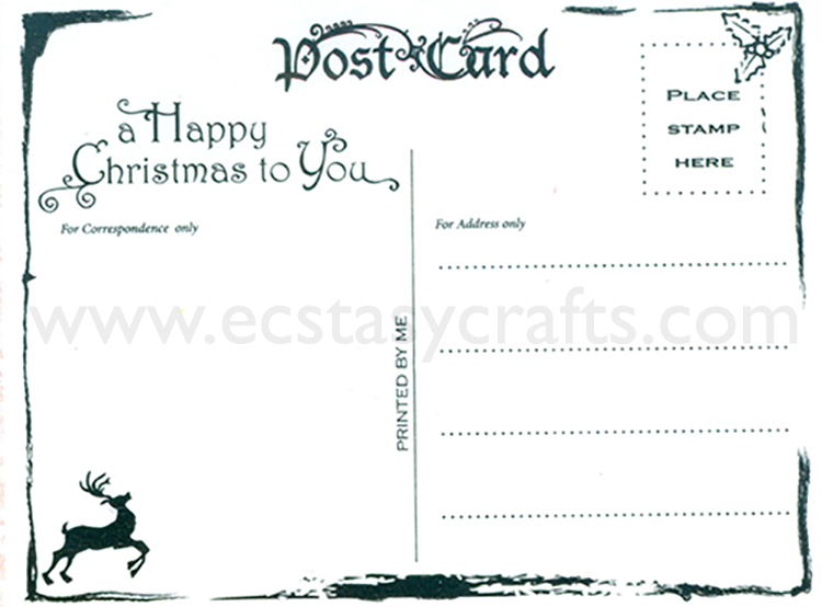 Clear Stamp -Christmas postcard