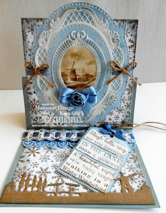 Christmas carol - Winter wonderland stamp