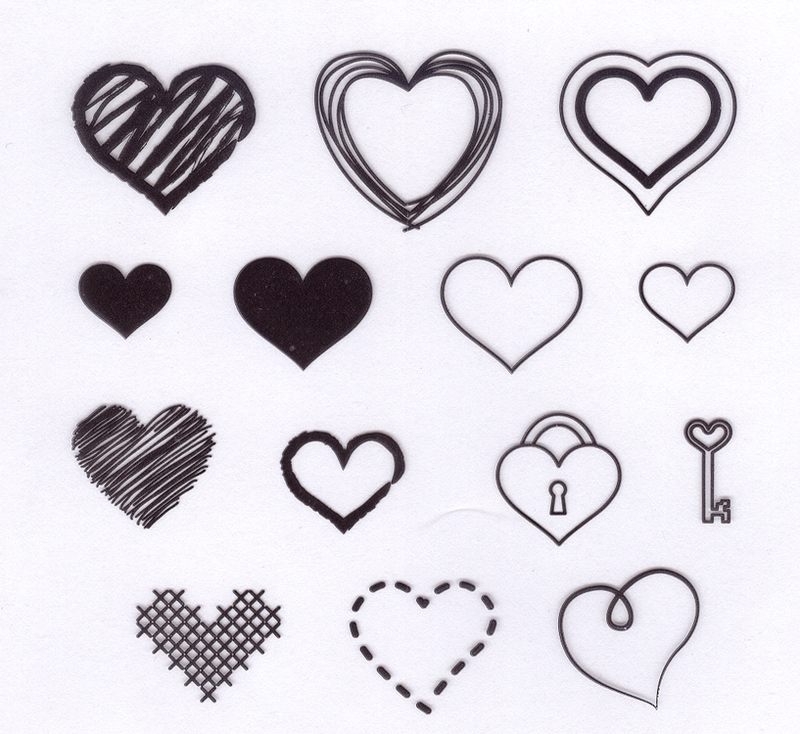 Hearts set-Stamp Set