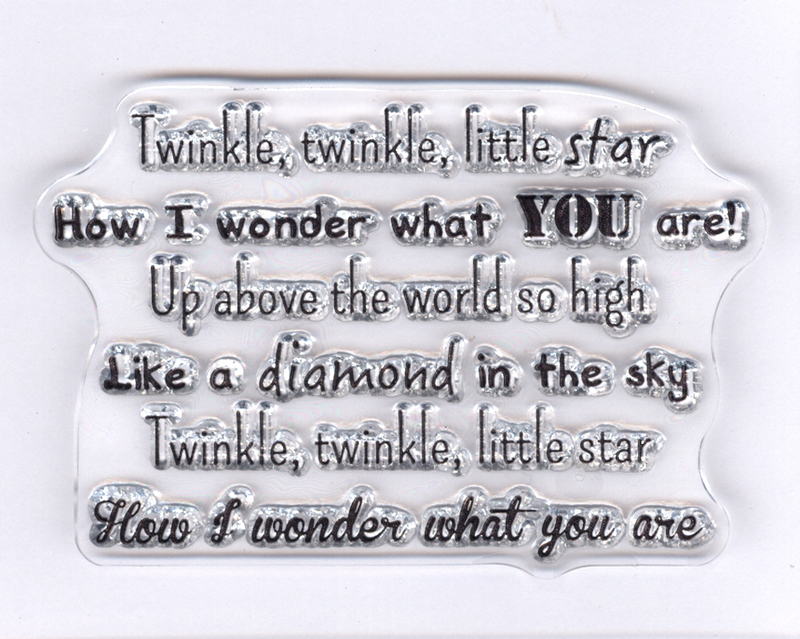 Song: Twinkle twinkle little star clear stamp