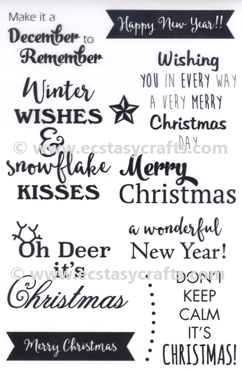 Christmas sentiments Stamp Set