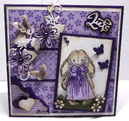 Nellie's Choice Clear Stamp - Baby Cuddles - Cuddly Girl