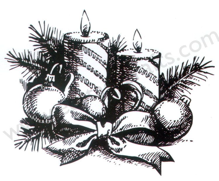 "Clear stamps Christmas-time serie ""Candles"""