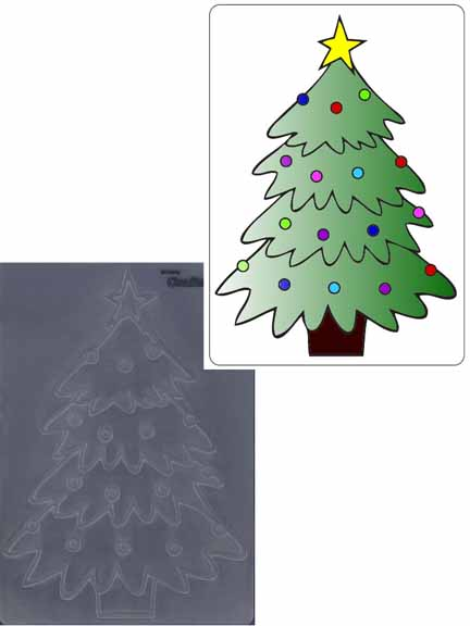 Embossing Folder - Christmas Tree