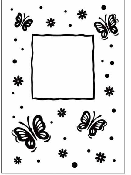 Embossing Folder Butterfly Frame