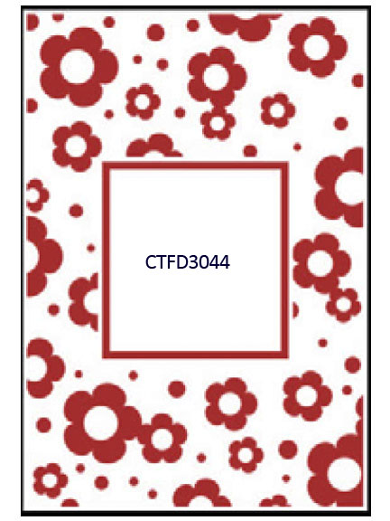 Embossing Folder - Flowers Frame