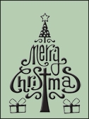 Embossing Folder - Merry Christmas (HSFC001)