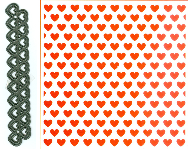 Embossing Folder and die - Design Folder Extra - Hearts