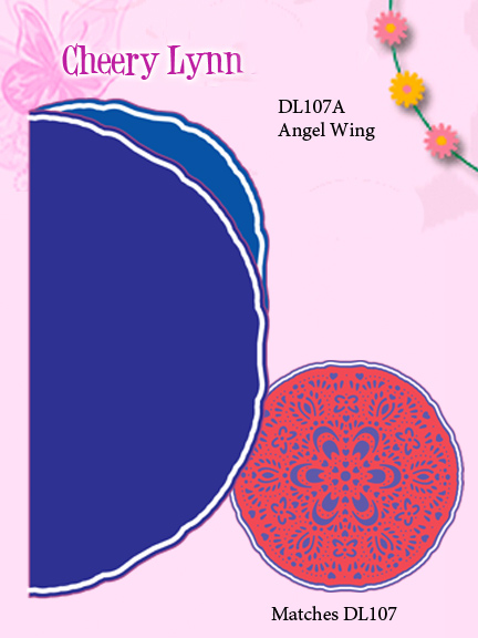 Cheery Lynn Designs Dies - Doily Die-Waltzing Matilda Lace Angel Wing