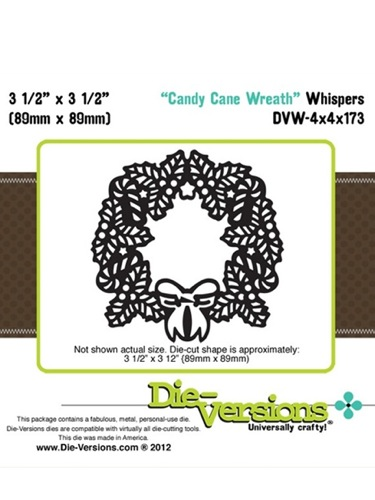 Die Versions Dies - Whispers Candy Cane Wreath