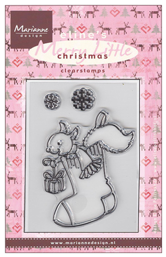 Marianne Design Clear Stamps - Merry Little Christmas-Stocking