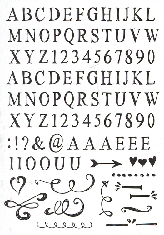 Eline's handlettering - Light - Stamp Set