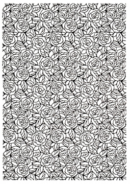 Embossing Folder - A4 - Bed of Roses