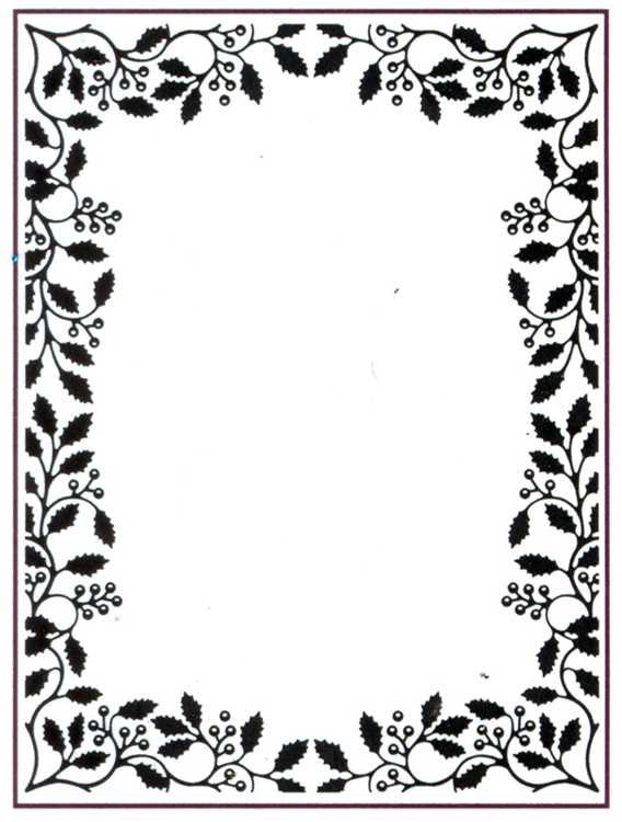 Embossing Folder - Holly Vine Frame