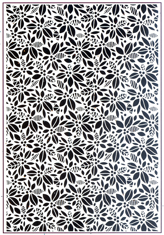 Embossing Folder A4 - Contemporary Poinsettia