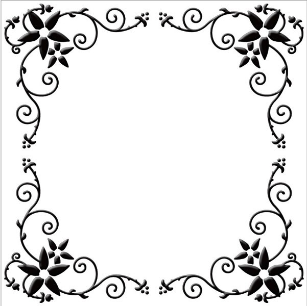 Embossing Folder - Flower Frame (Square)