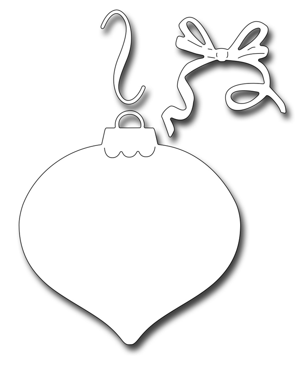 Frantic Stamper Precision Die - Finial Ornament Background