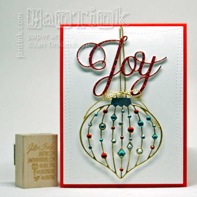 Frantic Stamper Precision Die - Jeweled Finial Ornament