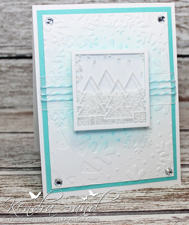 Frantic Stamper Precision Die - Christmas Tree Square