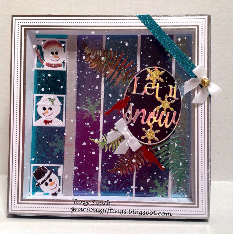 Frantic Stamper Precision Die - Peeking Snow Family