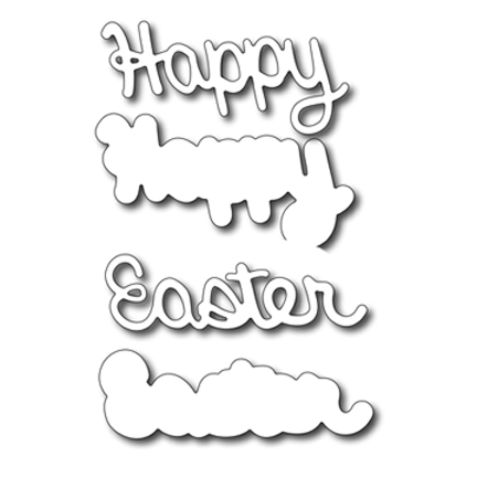 Cutting Die - Happy Easter with background die