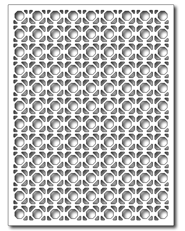 Frantic Stamper - Precision Dies - Great Grate Card Panel