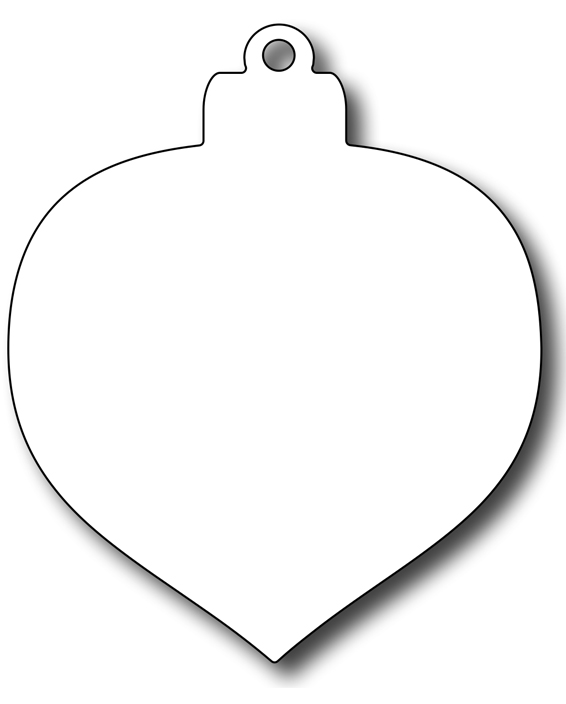 Frantic Stamper Precision Die - Teardrop Christmas Bauble Background