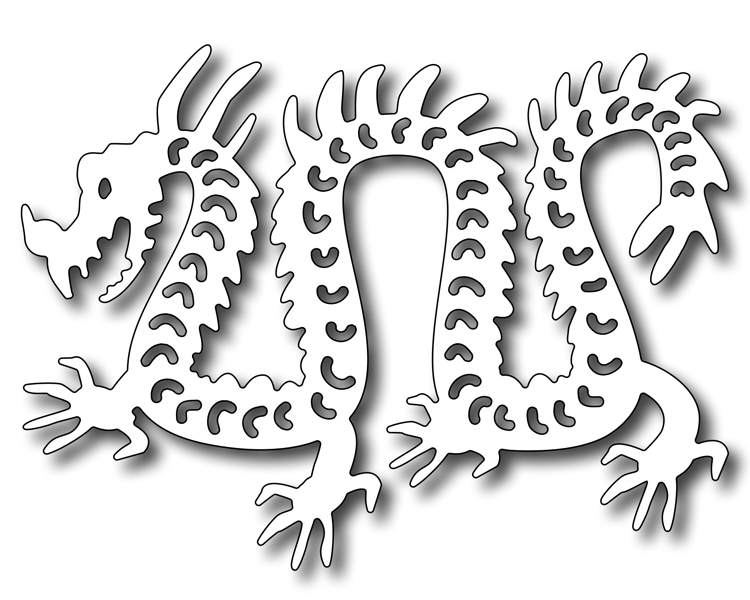 Frantic Stamper Precision Die - Asian Papercut Dragon