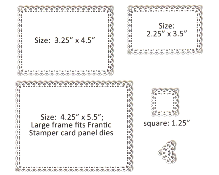 Frantic Stamper Precision Die - Double Loop Frames