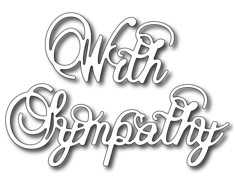 Frantic Stamper Precision Die - With Sympathy (large)