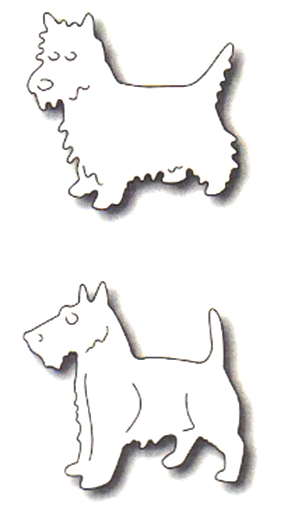 Frantic Stamper Precision Die - Two Terriers