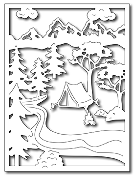 Frantic Stamper Precision Die - Summer Camping in the Wildwood Card Panel