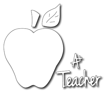 Frantic Stamper Precision Die - Teacher's Apple