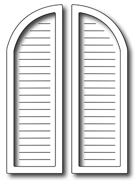 Frantic Stamper Precision Die - Arched Window Shutters