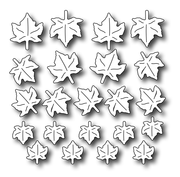 Frantic Stamper Precision Die - Petite Maple Leaves
