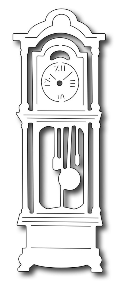 Frantic Stamper Precision Die - Grandfather Clock