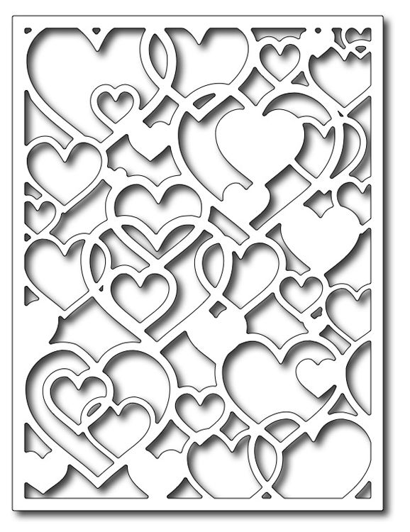 Frantic Stamper Precision Die - Open Hearts Card Panel