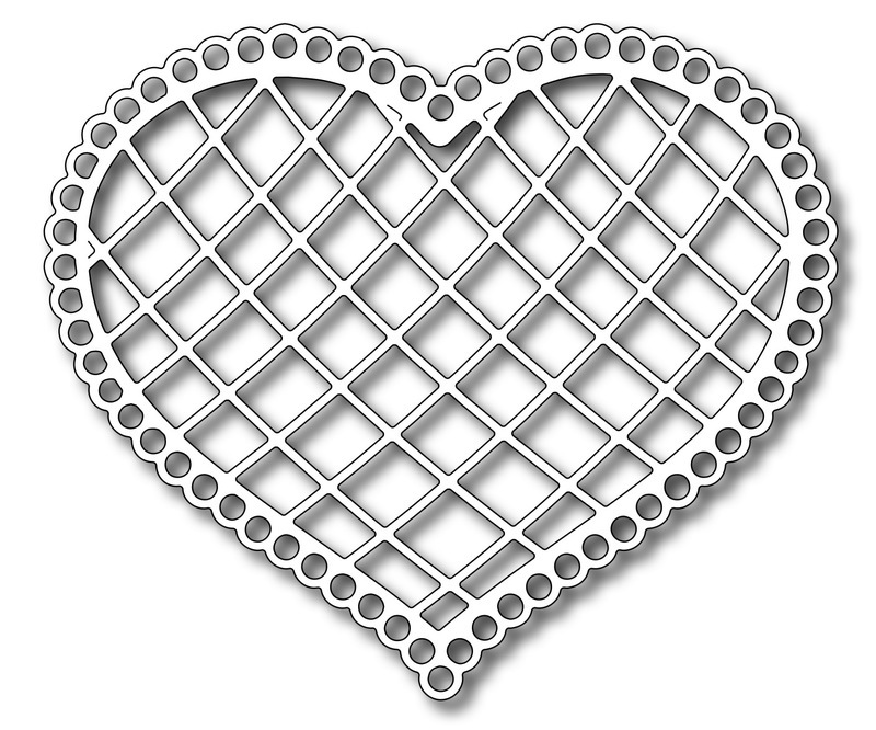 Frantic Stamper Precision Die - Lattice Heart