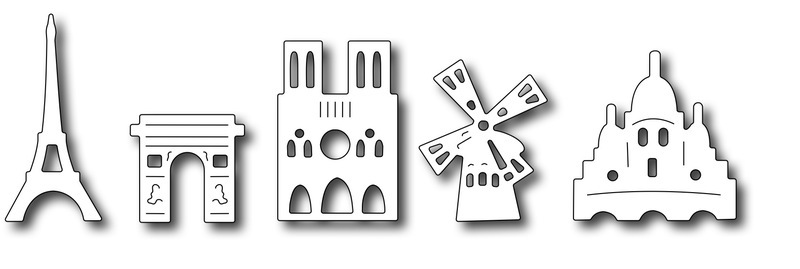 Frantic Stamper Precision Die - Paris Icons