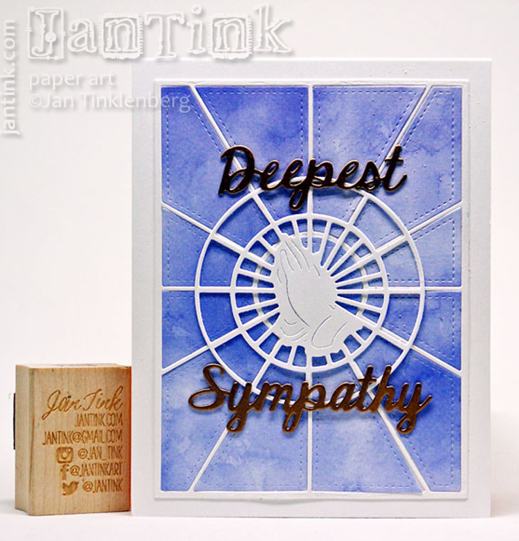 Frantic Stamper Precision Die - Praying Hands Stained Glass Medallion