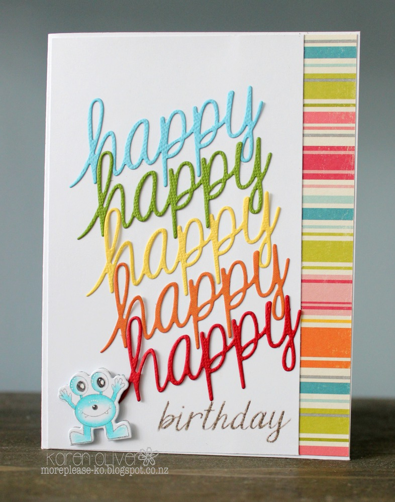 Frantic Stamper Precision Die - Script Happy