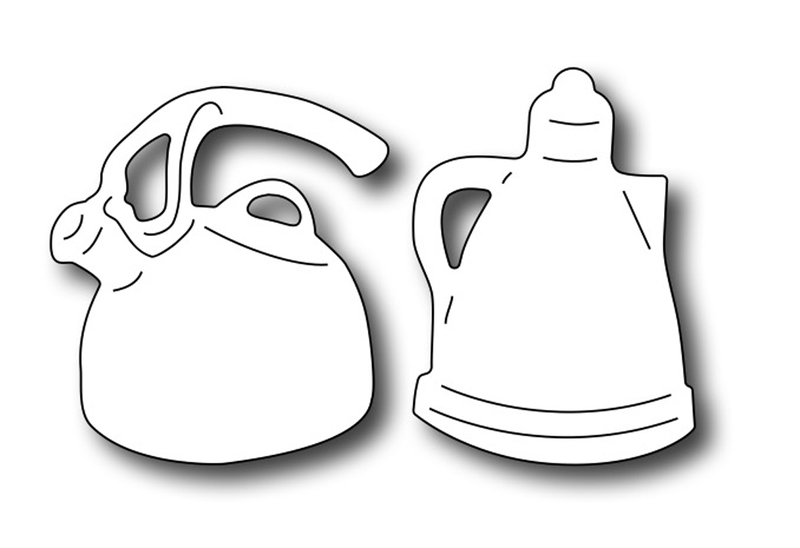 Frantic Stamper Precision Die - Tea Kettle & Coffee Pot