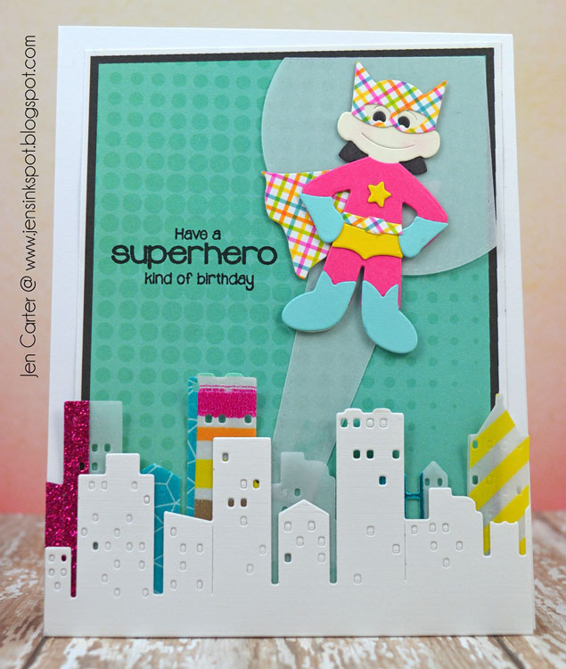 Frantic Stamper Precision Die - Super Hero Kid