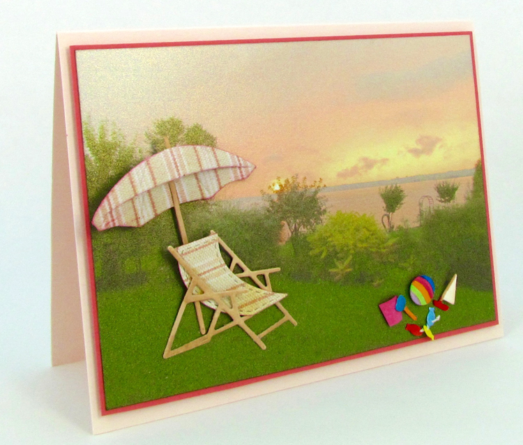 Frantic Stamper Precision Die - Beach Umbrella And Chair