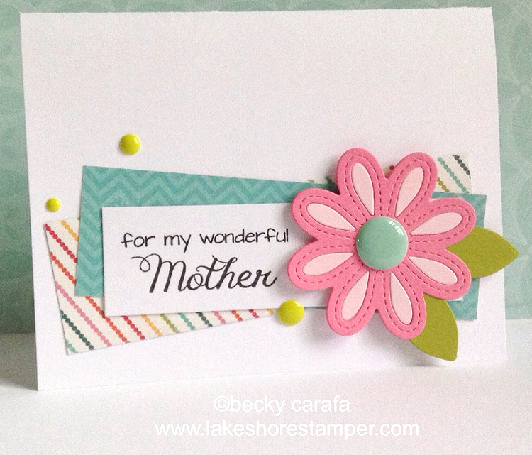 Frantic Stamper Precision Die - Stitched Daisy Pair