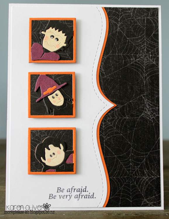 Frantic Stamper Precision Die - Peeking Halloween Trio