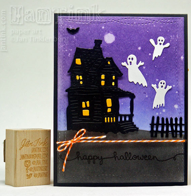 Frantic Stamper Precision Die - Large Haunted House