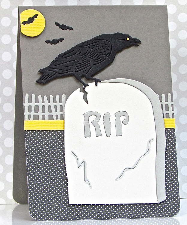 Frantic Stamper Precision Die - Tombstone And Raven